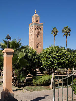 Koutoubia Minaret Built By Yacoub El Poster by Panoramic Images