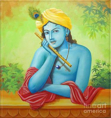 Krishna Poster by Anupam Duggal