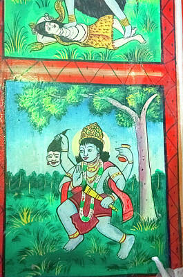 Krishna, Shree Laxmi Narihan Ji Hindu Poster by Inger Hogstrom