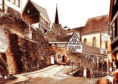 Kronach Medieval Town In Franconia Poster by Rudi Prott