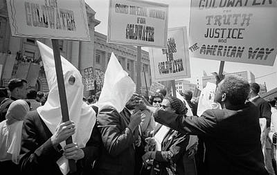 Ku Klux Klan Members Supporting Barry Poster by Stocktrek Images