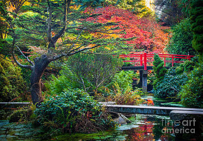 Kubota Gardens In Autumn Poster by Inge Johnsson