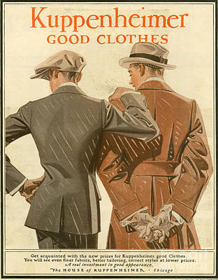 Kuppenheimer  1910 1910s Usa Poster by The Advertising Archives