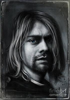Kurt Cobain Poster by Andre Koekemoer
