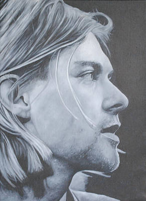 Poster featuring the painting Kurt Cobain by David Dunne
