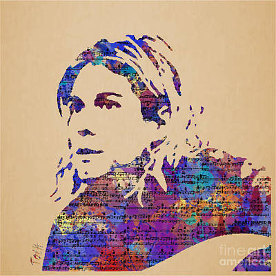 Kurt Cobain Watercolor Poster