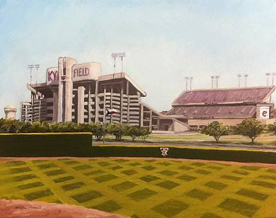 Kyle Field Poster by Wade Powell