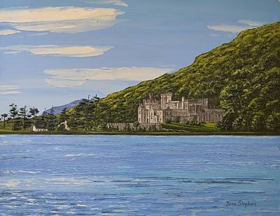 Kylemore Abbey Connemara Co Galway Poster by Diana Shephard