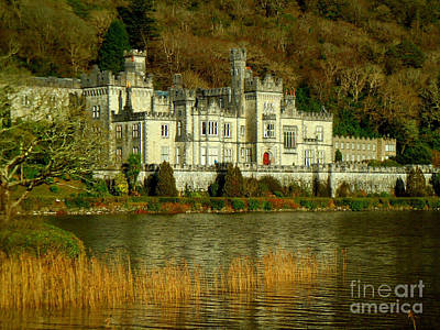 Kylemore Abbey On A Golden Afternoon Poster by Anne Gordon