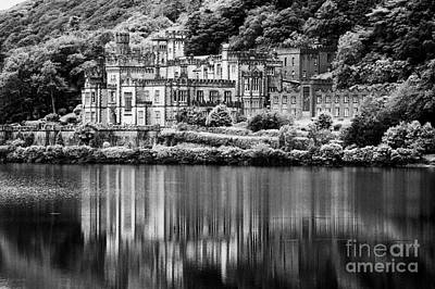 Kylemore Abbey Reflected In The Lake Connemara Galway Ireland Poster