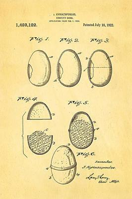 Kyriazopoulos Confetti Bomb Patent Art 1922 Poster