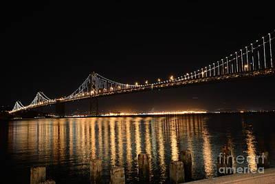 L E D Lights On The Bay Bridge Poster