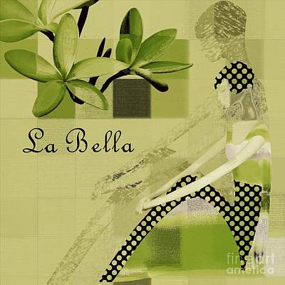 La Bella - Green 01-03 Poster by Variance Collections