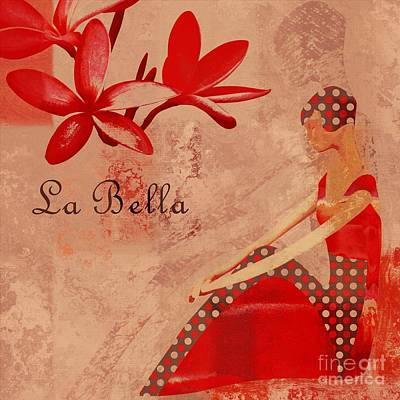 La Bella - Red - 064152173-02 Poster by Variance Collections