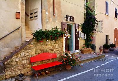 La Bottega  Small Typical Souvenir Shop In Tuscany  Poster by Ramona Matei