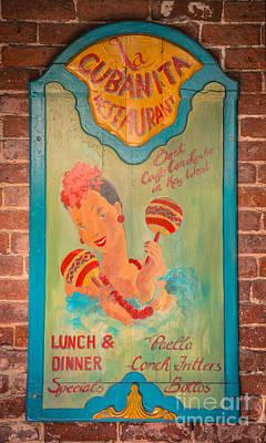 La Cubanita Restaurant Key West - Hdr Style Poster by Ian Monk