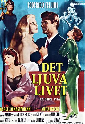 La Dolce Vita, Swedish Poster Art Poster by Everett