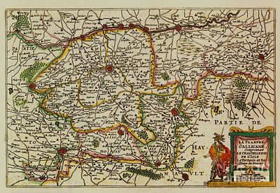 La Fandre Gallicane Vintage Map Poster