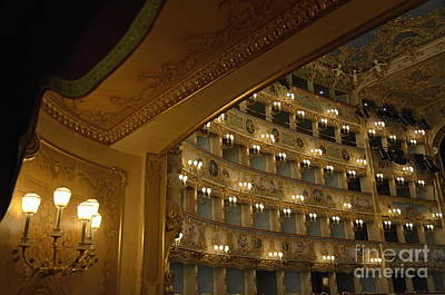 La Fenice Opera Theater Poster by Sami Sarkis