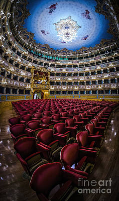 La Fenice Theatre Venice Poster by Paul and Helen Woodford