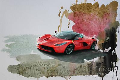 La Ferrari Poster by Roger Lighterness