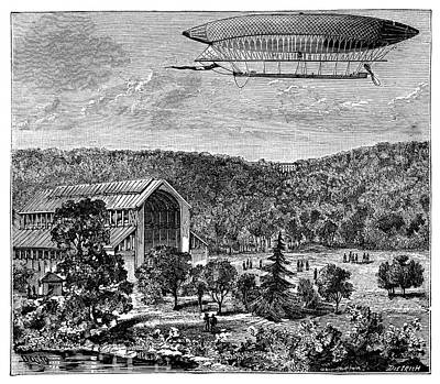 'la France' Electric Airship Poster by Science Photo Library