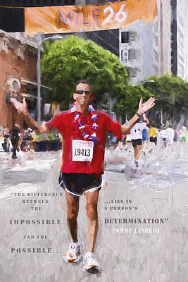 La Marathon Finisher Poster