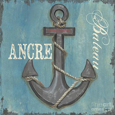 La Mer Ancre Poster by Debbie DeWitt