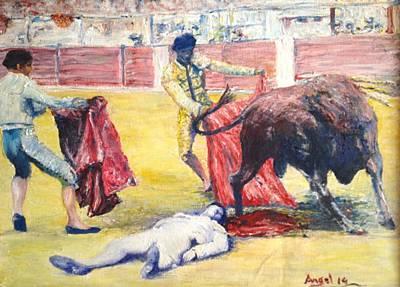 La Muerte De Manolete Poster by Angel de Paz