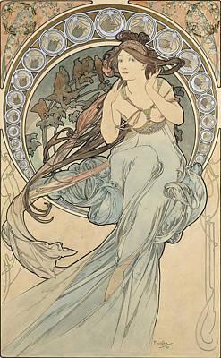 La Musique, 1898 Watercolour On Card Poster