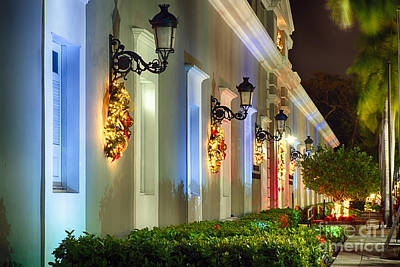 Old San Juan Holiday Impression I Poster by George Oze