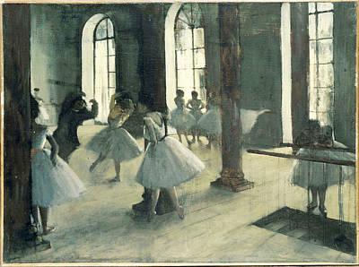 La Repetition Au Foyer De La Danse Poster by Edgar Degas