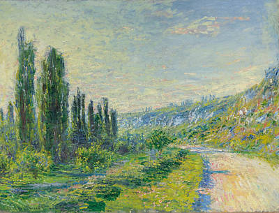 La Route De Vetheuil Poster by Claude Monet
