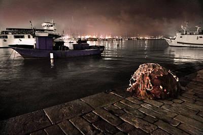 La Spezia Harbor Nocturne Poster