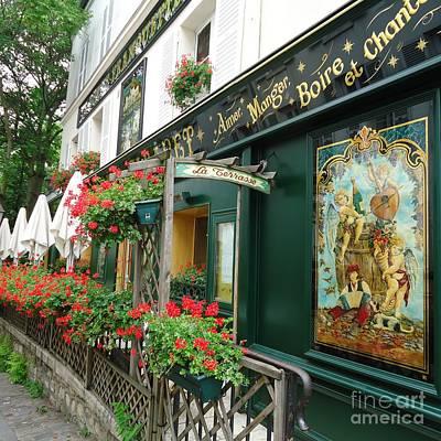 La Terrasse In Montmartre Poster