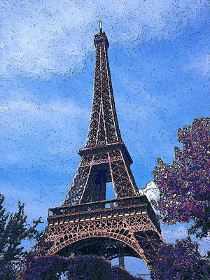 La Tour D Eiffel 2 Poster by Estefan Gargost