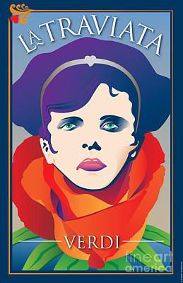 La Traviata Opera Poster