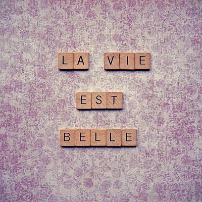 La Vie Est Belle Poster by Nastasia Cook