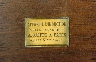 Label For Galvanic Apparatus Poster