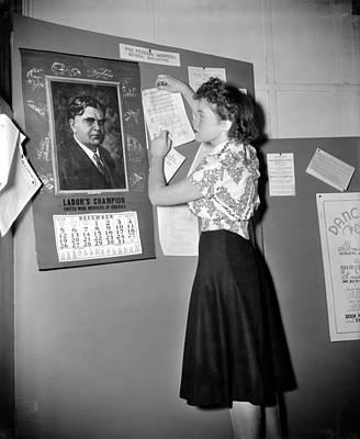 Labor Movement, 1938 Poster