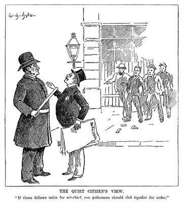 Labor Movement Cartoon Poster by Granger