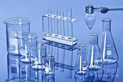 Laboratory Glassware Poster by Martyn F. Chillmaid