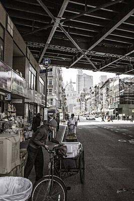 Laboring Under The Bridge  Poster by Madeline Ellis
