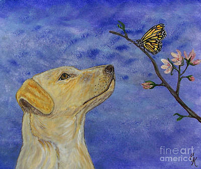 Poster featuring the painting Labrador Enchanted by Ella Kaye Dickey
