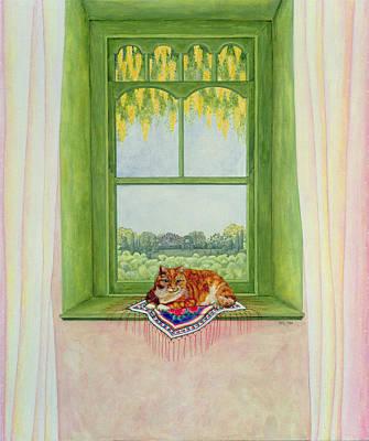 Laburnum Cat Poster