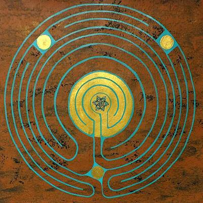 Labyrinth W Sun Labyrinth Center Poster by Folade Speaks