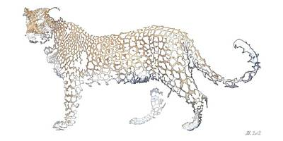 Poster featuring the digital art Lace Leopard by Stephanie Grant
