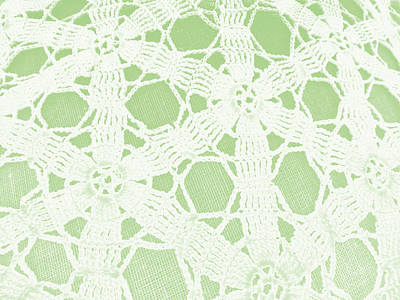 Lacey Crochet Poster by Grace Dillon