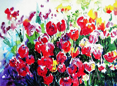 Laconner Tulips Poster by Marti Green