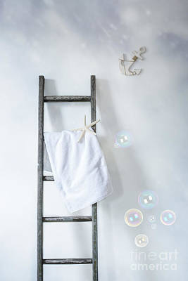 Ladder With Towel Poster